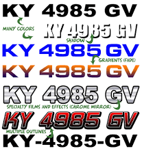 Custom Boat Registration Numbers Boatdecals Biz