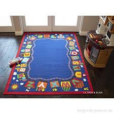 5x7 Kids Boys Children Toddler Playroom Rug Nursery Room Rug Bedroom Rug Fun Colorful Alphabet Train
