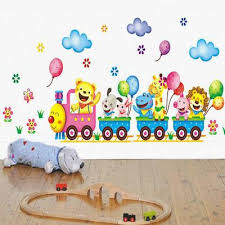 2017 New Arrival Baby Kids Room Animals Wall Stickers Cartoon Train Decals Diy Decoration Hot Buy At A Low Prices On Joom E Commerce Platform