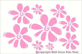 Flower Wall Stickers Vinyl Decal For Girls Room Decor 9pc
