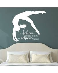 Phenomenal Deals On Gymnastics Quote Wall Decor Gymnast Wall Sticker Gymnastics Gifts For Girls Over 30 Colors