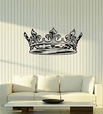 Vinyl Wall Decal Crown King Sign Above Bed Bedroom Home Interior Stick Wallstickers4you