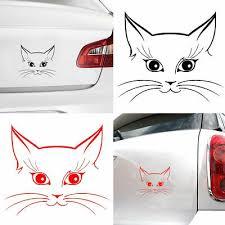 Funny Head Tilt Cat Car Styling Stickercool Pet Puppy Decal Car Window Rear