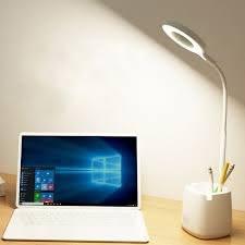 Đèn Bàn Học Đọc Sách LED Chống Cận 03 Chế Độ Ánh Sáng Vàng Bảo Vệ Mắt Có  Hộp Bút Và Giá Để Điện Thoại