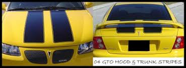 04 Pontiac Gto Vinyl Rally Racing Stripe Stripes Decals Decal 04 Gto 59 99 House Of Grafx Your One Stop Vinyl Graphics Shop