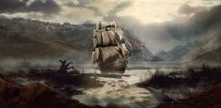pirate ship wallpaper ghost ship