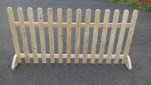 Bare Wood Finish Ebay Picket Fence Pet Fence Ideas Fence