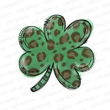 St Patrick S Day Leopard Shamrock Pre Cut Heat Transfer Decal Vinyl Printcess