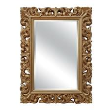 pu gold frame decorative wall mirror