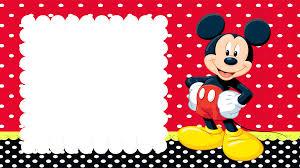 Invitacion De Mickey Mouse Invitaciones Mickey Invitacion De