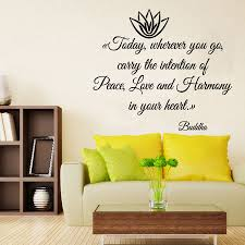vinyl wall sticker buddha quote wall art mural piece love quote