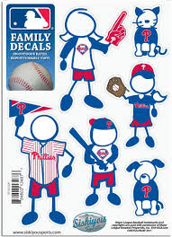 Amazon Com Mlb Philadelphia Phillies Small Family Decal Set Sports Fan Decals Sports Outdoors