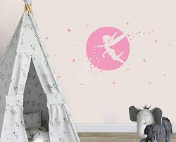 Fairy Wall Decals Girl Room Decor Nursery Wall Decals Fairy Wall Stickers For Bedroom Wall Decor Bedroom Moon And Star Wall Decor Y34 White By Gestyz Shop Online For Baby In The