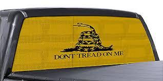 Truck Rear Window Dont Tread On Me Gadsden Flag Perforated Vinyl Decal Ebay