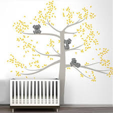 Family Of Koalas Wall Art Vinyl Decal Removable Mural For Baby S Room Nordicwallart Com