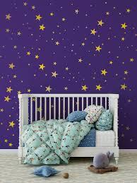 Gold Stars On Purple Wall Stars Wall Decor Gold Wall Decals Wall Decor