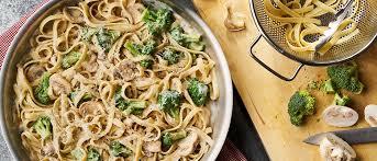 mushroom broccoli alfredo
