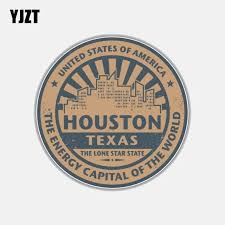 Yjzt 10 5cm 10 5cm Round Houston Texas Car Sticker Window Car Accessories Decal 6 3016 Car Stickers Aliexpress