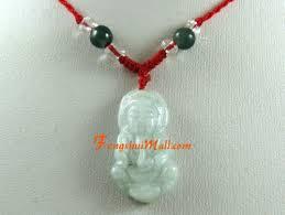 jade kuan yin pendant with adjustable