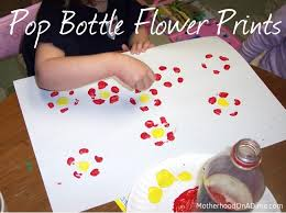 Soda Pop Bottle Print Flowers - Kids Activities | Saving Money ...