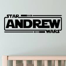 Personalized Star Wars Name With Lightsabers Jedi Knight Vinyl Etsy Vinyl Wall Decals Wall Decals Star Wars