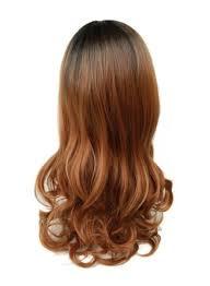 تسوق وباروكة شعر طويل مجعدة مدرجة بني أونلاين في الإمارات