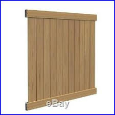 Washington 6 Ft H X 6 Ft W Cypress Vinyl Fence Panel Kit Z Durable Veranda Fence Kit New