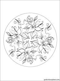 Mandala Bloemen Gratis Kleurplaten