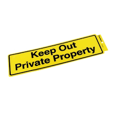 Sandleford Keep Out Private Property Self Adhesive Sign Bunnings Warehouse