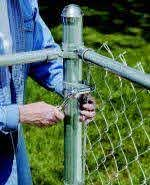 Guide To Installing A Chain Link Fence Nbsp At The Home Depot Chain Link Fence Chain Link Fence Installation Fence