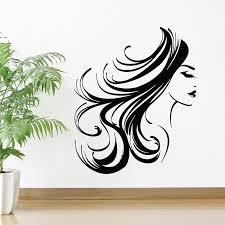 Girl Face Wall Decal Woman Long Hair Hairstyle Makeup Room Beauty Salon Interior Decor Vinyl Window Stickers Bedroom Decoration Name Wall Decals Name Wall Stickers From Onlinegame 12 66 Dhgate Com