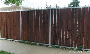 Wood Fence With Metal Frame Picture Interunet