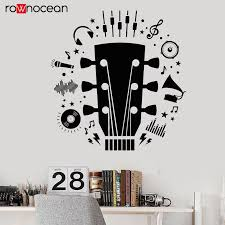Electric Guitar Player Musician Rock Music Vinyl Wall Stickers Removable Decals For Teens Room Wallpaper Home Decor Murals 3205 Wall Stickers Aliexpress