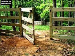 Split Rail Fence Gate Design Fence Collection And Designs Youtube