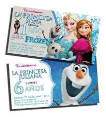 Tarjetas Invitaciones Cumpleanos Frozen Sobres 54 990 En