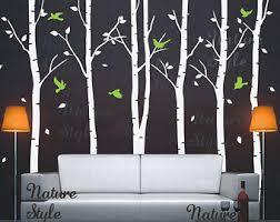 Nursery Wall Decal Tree Wall Decal Birch Tree Wall Sticker Etsy