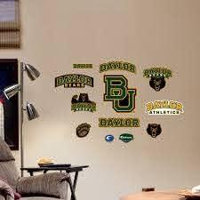 Fathead Ncaa Baylor Bears Junior Logo Assortment Wall Decal Walmart Com Walmart Com