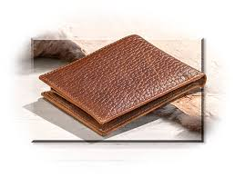 full grain leather bi fold wallet
