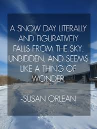 snow day quote susan orlean quotes winter sky quotes