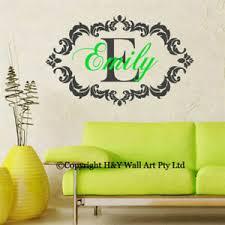 Custom Personalised Name Wall Sticker Kids Room Decal Art Mural Nursery Decor Au Ebay