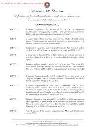Decreto Dipartimentale n.194 del 17 febbraio 2020 - Miur