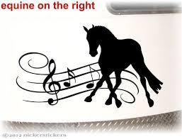 Musical Dressage Horse Decals Stickers Nickerstickers