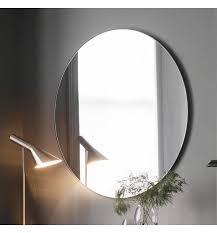 hayle round black modern mirror 100 x 100cm