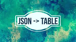 Building json2table: Turn JSON into an HTML table - Travis Horn