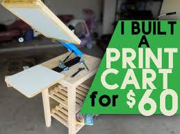 build a screen printing cart