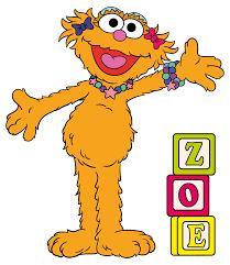Sesame Street 3 Year Old Muppet Monster Zoe Vinyl Home Wall Decal Design 20x23 Ebay