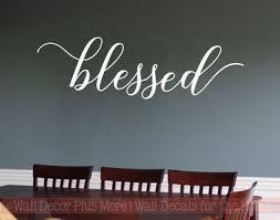 Blessed Cursive Elegant Wall Stickers Decals Vinyl Lettering Kitchen Home Decor Art