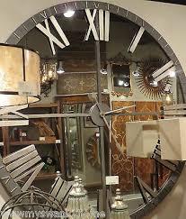 xl 60 mirrored round wall clock