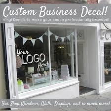 Small Custom Personalized Professional Business Name And Logo Etsy Custom Window Decals Logo Wall Custom Vinyl
