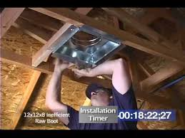 overhead vent boot installation you